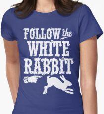 Follow The White Rabbit Alice in Wonderland T Shirt T-Shirt