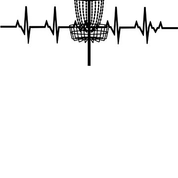 Heartbeat Disc Golfing' Awesome Golfing Gift  by leyogi