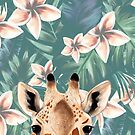 Giraffe Frangipani Iphone Case by Kalaiicreations