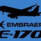 Embraer E170 - Silhouette (Black) by TheArtofFlying
