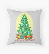 A Chemist's Christmas Throw Pillow