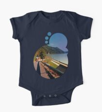 Road into Danube valley | waterscape photography Kids Clothes