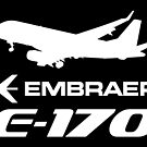 Embraer E170 - Silhouette (White) by TheArtofFlying