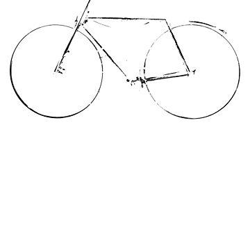 Vintage Bike Retro Bicycle Distressed Black Design  by BOBSMITHHHHH