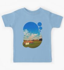 Countryside life with blue cloudy sky | landscape photography Kids Tee