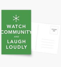 Watch Community & Laugh Loudly Postcards
