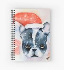Santa Dog Spiral Notebook