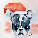 Santa Dog by Pat  Elliott