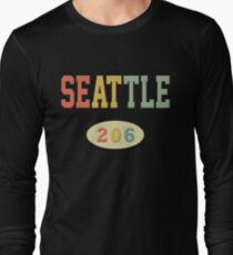 Seattle 206 Area Code Long Sleeve T-Shirt