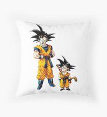 Goku Growing up Throw Pillow