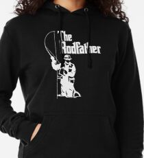 The Rodfather Fishing T Shirt Lightweight Hoodie