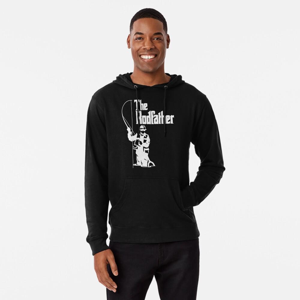 The Rodfather Fishing T Shirt Lightweight Hoodie