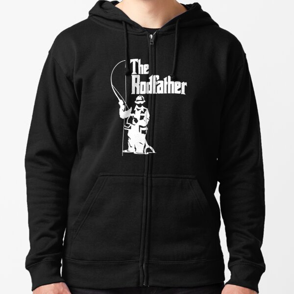 The RODFATHER FISHING Fish Hoodie Or Sweater Birthday Christmas Fathers Day