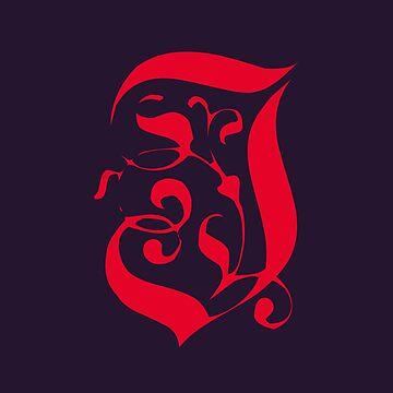 scarlet letter J by MCANTO