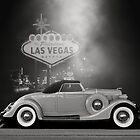 1935 Lincoln Roadster Vegas B/W by Thomas Burtney