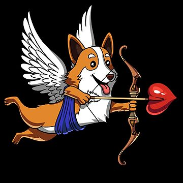 Corgi Dog Cupid Valentines Day Love Heart by underheaven