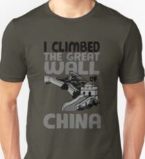Cute Unique I Climbed The Great Wall Of China Art Gift Unisex T-Shirt