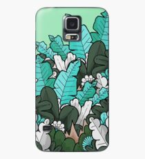 Green jungle leaves Case/Skin for Samsung Galaxy