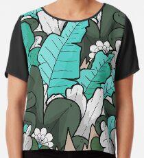 Green jungle leaves Chiffon Top