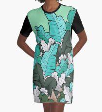 Feuilles de jungle verte Robe t-shirt