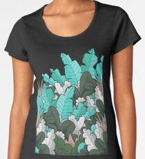 Feuilles de jungle verte T-shirt premium femme