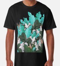 Green jungle leaves Long T-Shirt