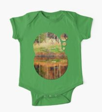 Water reflections on the river | waterscape photography Kids Clothes