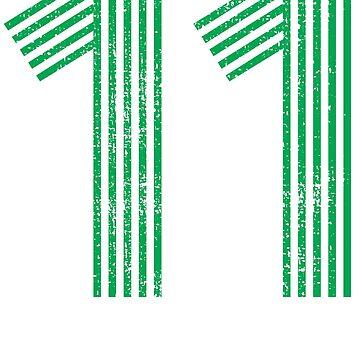 11 vintage number number retro by 4tomic