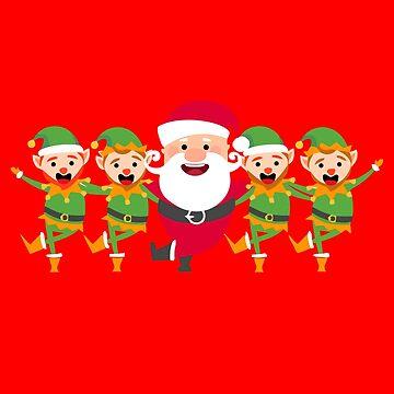 Funny Santa Claus Elf Dance Eleven Dance by yoddel