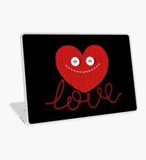 Knitted Red Heart Design Laptop Skin