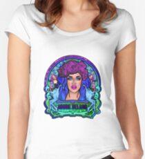 Adore Delano Art Nouveau Recolour Women's Fitted Scoop T-Shirt