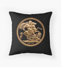 22 Carat Gold Sovereign 1979 Throw Pillow