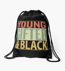 Young Gifted and Black Drawstring Bag