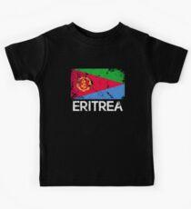Eritrean Flag Design | Vintage Made In Eritrea Gift Kids Tee