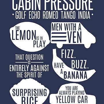 Cabin Pressure Moments - White by cucumberpatchx