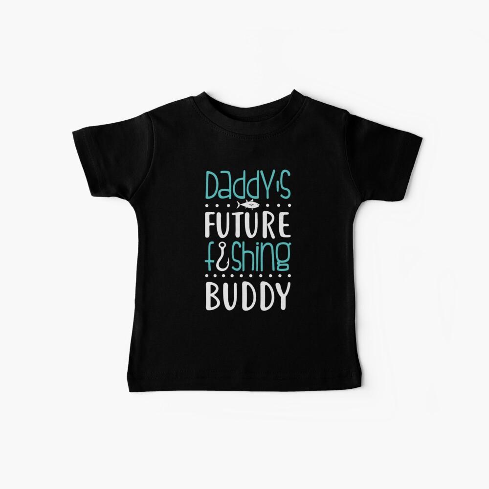 Daddy's Future Fishing Buddy Camiseta para bebés