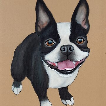 Boston Terrier de PaperTigressArt