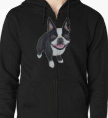Boston Terrier Veste zippée à capuche