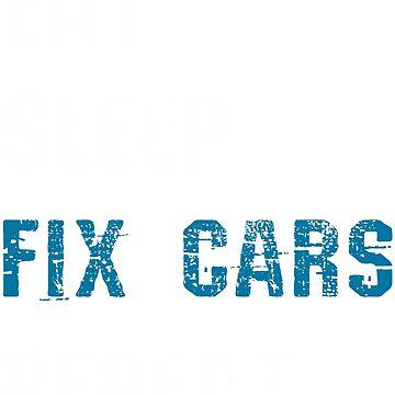 Car Mechanic Repairing Cars by 4tomic