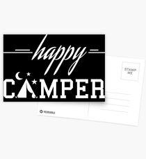 Happy Camper 04 white Postcards