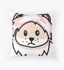 lion doodle emoji Throw Pillow