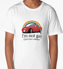 Ich bin nicht schwul Ich liebe meine Miata! Longshirt