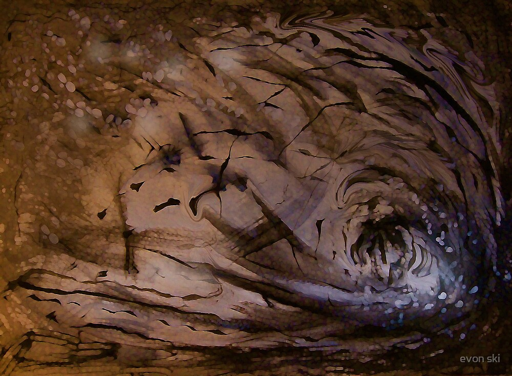 Light Coming into the Cave by evon ski