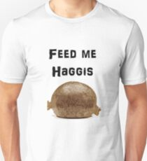 Iskybibblle Products / Feed me Haggis/ Black Unisex T-Shirt