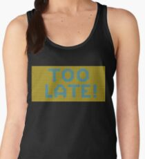 Too little too late (pink-blue) Women's Tank Top