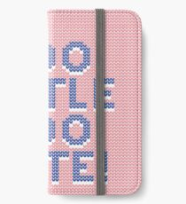 Too little too late (pink-blue) iPhone Wallet/Case/Skin