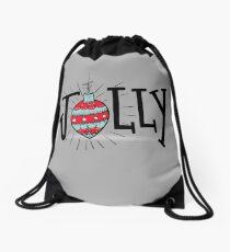 Happy Jolly Christmas - Vintage Retro Drawstring Bag