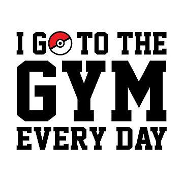 Voy al gimnasio todos los días de redscarf