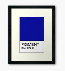 Pantone Blue 072 Framed Print