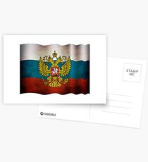 Waving flag of Russia Postkarten